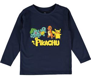 Pikachu Pokemon top tee kids boys girls clothes baby toddler long sleeve tops