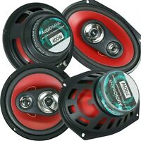 """Audiobank 6 x 9 inch  700W  + 6.5"""" 400W 3-Way Car Audio Stereo Coaxial Speakers"""