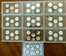 FULL RUN 2010-2019 US MINT STATE PARKS QUARTER PROOF SETS (10) 50 COINS complete