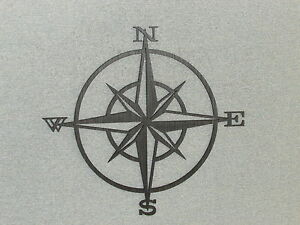Nautical Wooden Compass Rose Wall Hanging Art Decor