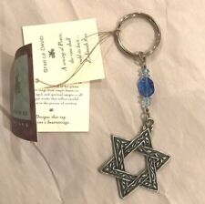 CYNTHIA WEBB PEWTER KEYCHAIN - Star of David