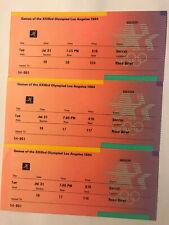 Vintage 1984 Los Angeles Summer Olympics Soccer Ticket Stub Lot of 3