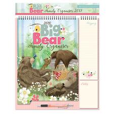 2019 Family Organiser Calendar - Shopping List/Memo Pad/Pen - Bears in the Wood