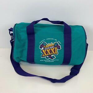 NFL Super Bowl XXXI Small Gym Duffel Bag Vtg 90s Football 1997 Superdome