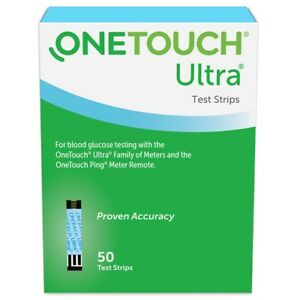 NIB One Touch Ultra Test Strips 50ct EXP 2022-05-31 or later Factory Sealed