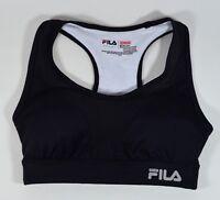 FILA Women's XS Black Padded Racerback Running Sports Bra