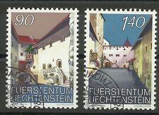 LIECHTENSTEIN/ Architektur-Schloss Vaduz MiNr 919/20 o Ersttagstempel