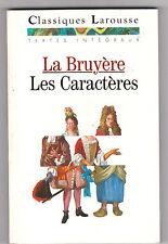 Les Caractères - Jean De La Bruyère. Larousse Classiques+documentation+dossier