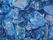 25Kg Glas Blue Steine für Gabione Pergone Sichtschutz Steinkorb Zaun Edelsplitte