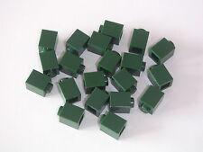 Lego 20 Briques 1x1 vert foncé Neuves / New Dark Green bricks 1x1 REF 3005