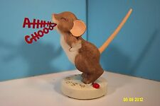 Charming Tails Mouse-Ahhh-Chooo! Sneezing Mouse Figurine-New In Box