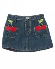 NWT~Gymboree CHERRY CUTE denim jean skirt cherry pockets~3-6