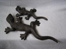Metall-Gecko, 2-er Set, Gecko, Tiere, Wandbild, Dekoration, Garten,