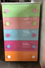 Settimino gigante mobile cassettiera a 5 cassetti in legno multicolore
