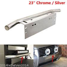 "23"" Bull Bar Front Bumper License Plate Mount Holder Autos Working Light Bracket"