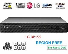 LG BP155 Region Free Blu-Ray Player & DVD for WorldWide Use, USB, HDMI