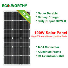ECO-WORTHY 100 Watt 12 Volt Mono Solar Panel Compact Design 100W 12V Power