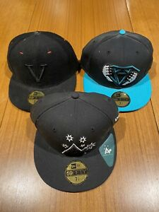 Mens hat cap new era bundle lot 3 fitted 7 1/4 Diamond supply co Blavck scale