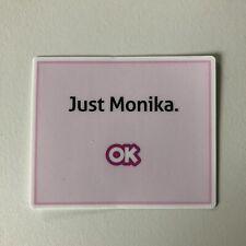 Doki Doki Literature Club Just Monika Vinyl Sticker