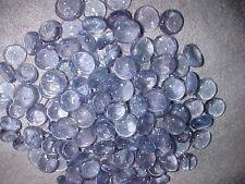 50 Pcs Periwinkle Mix Flat Glass Marbles Gems, Vase Fillers, Mosaic Tiles $2.99