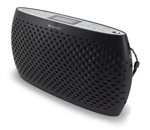 Soundmaster UKW-PLL Kofferradio mit CD-Spieler, USB, MP3 Kopfhörerbuchse Schwarz