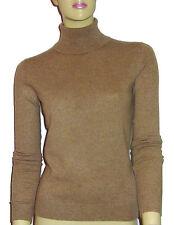 LUXE OH `DOR® 100% Cashmere Women Rollkragen Pullover brown braun Gr 34/36 S