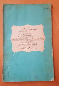 Historisches Handschrift - Rechnungen - Maximiliansgymnasium München 1876