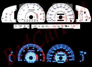 96-98 Toyota 4Runner SR5 BLUE INDIGLO GLOW WHITE GAUGES