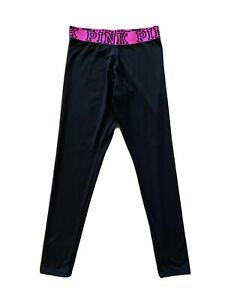 Victoria Secret Womens PINK Yoga Pants Black Stretch M