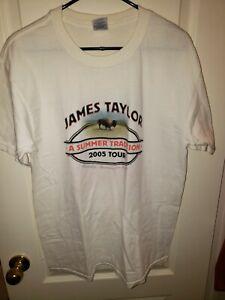 James Taylor Summer's Here Tour 2005 Concert Tee T-shirt (Never worn!) Sz: L