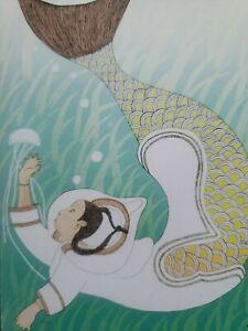 """Inuit Underwater Mermaid  8"""" X10"""""""