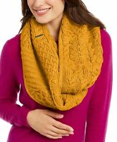 Michael Kors Womens One Size Patchwork Cable Knit Infinity Scarf Yellow $68 168