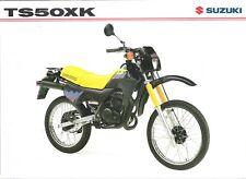 Suzuki TS50X TS50XK GB Sales Brochure TS50