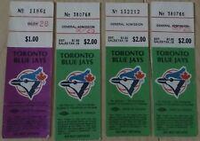 Toronto Blue Jays ticket stubs - late 1970's general admission