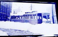 Original NYC Great Blizzard December 1947 Trolley 3740 616 Photo Negative