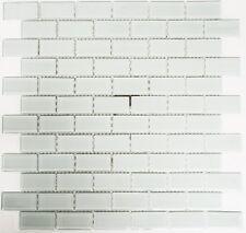 Mosaïque carreau translucide brique cristal blanc toilette 66-0102_f |10 plaques