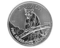 2012 Canadian .9999 Silver 1 Oz Cougar Canada Bullion Coin Wildlife Series .999