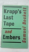Krapp's Last Tape and Embers by Samuel Beckett - First Edition 1959