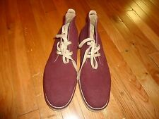 Mossimo Supply Co. Men's Suede Leather Casual Dress Lace Up Shoes Maroon Sz 8