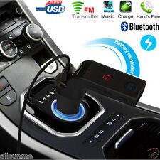 Bluetooth Car Kit Handsfree AUX USB FM Transmitter Radio MP3 Player USB Charger
