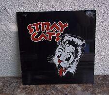 Vintage Rare Stray Cats Glass Painting Memorabilia VHTF 12x12 Pop Rock Band Cat