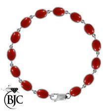Bracciali di lusso con gemme rosse in argento sterling pietra principale corallo
