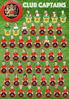 Manchester United Club Captains Poster 1883 to present large A1 size