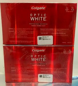 2 BOXES - Colgate OPTIC WHITE Take-home Kit 9% ( EXP. 07/ 2019 )