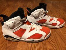 Nike Air Jordan 6 VI Retro Gatorade Shoes Orange White Black 384664-145 Size 13