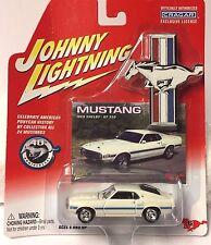 1969 69 MUSTANG SHELBY GT350 WHITE JOHNNY LIGHTNING ON CARD 1:64 RARE