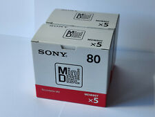 More details for 10x sony blank recordable minidiscs - 80mins - mdw80t - uk seller - new & sealed