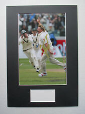 SHANE WARNE AUSTRALIA CRICKET LEGEND GENUINE SIGNED A3 MOUNTED PHOTO DISPLAY-COA