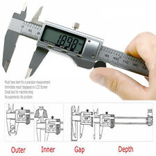 150MM Stainless Steel Electronic Digital Vernier Caliper LCD Micrometer Guage 6""