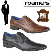 "Roamers ""Cambridge"" Gents Oxford Brogues Mens Leather Dress Shoes"